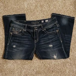 Miss Me Embellished Cropped Jeans